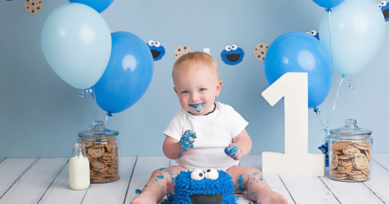 cookie monster cake mash