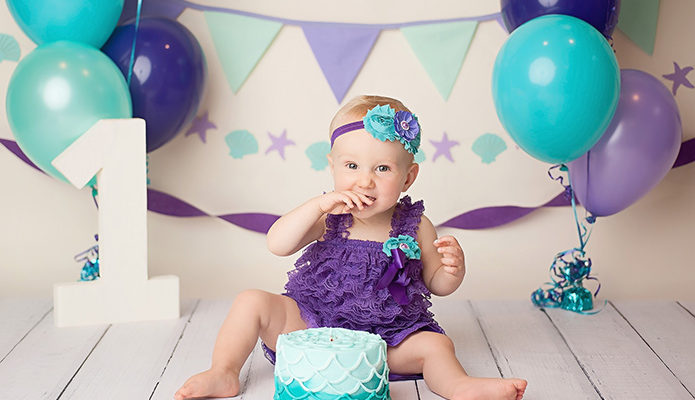 Western NY First Birthday Cake Smash Session, Lillian