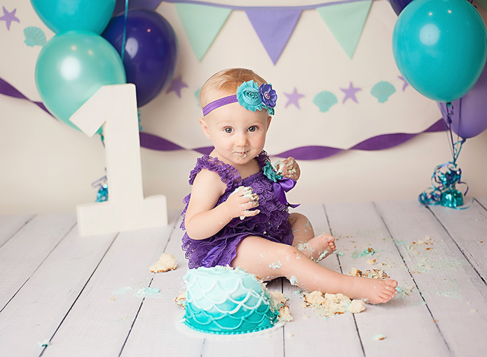 one year old smashing mermaid cake