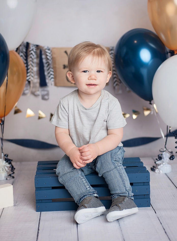 one year old cake smash session