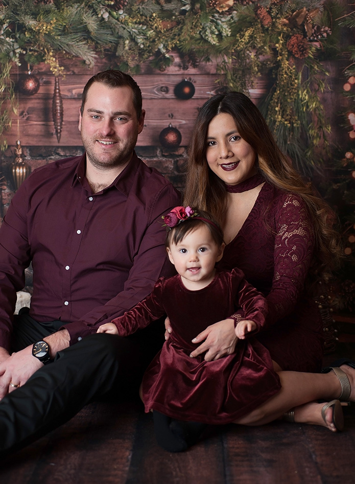 baby girl and her beautiful family