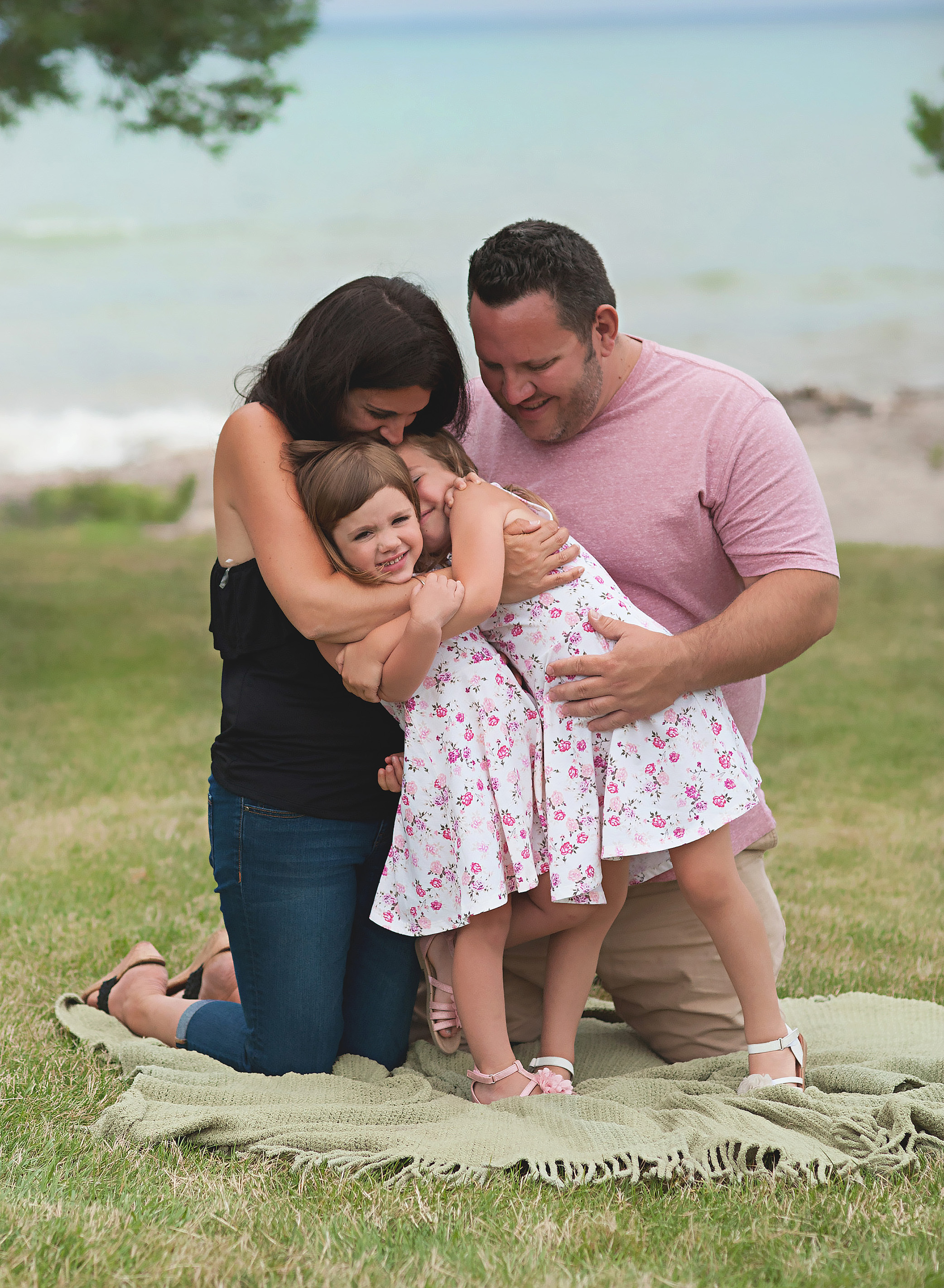 family session on a beach