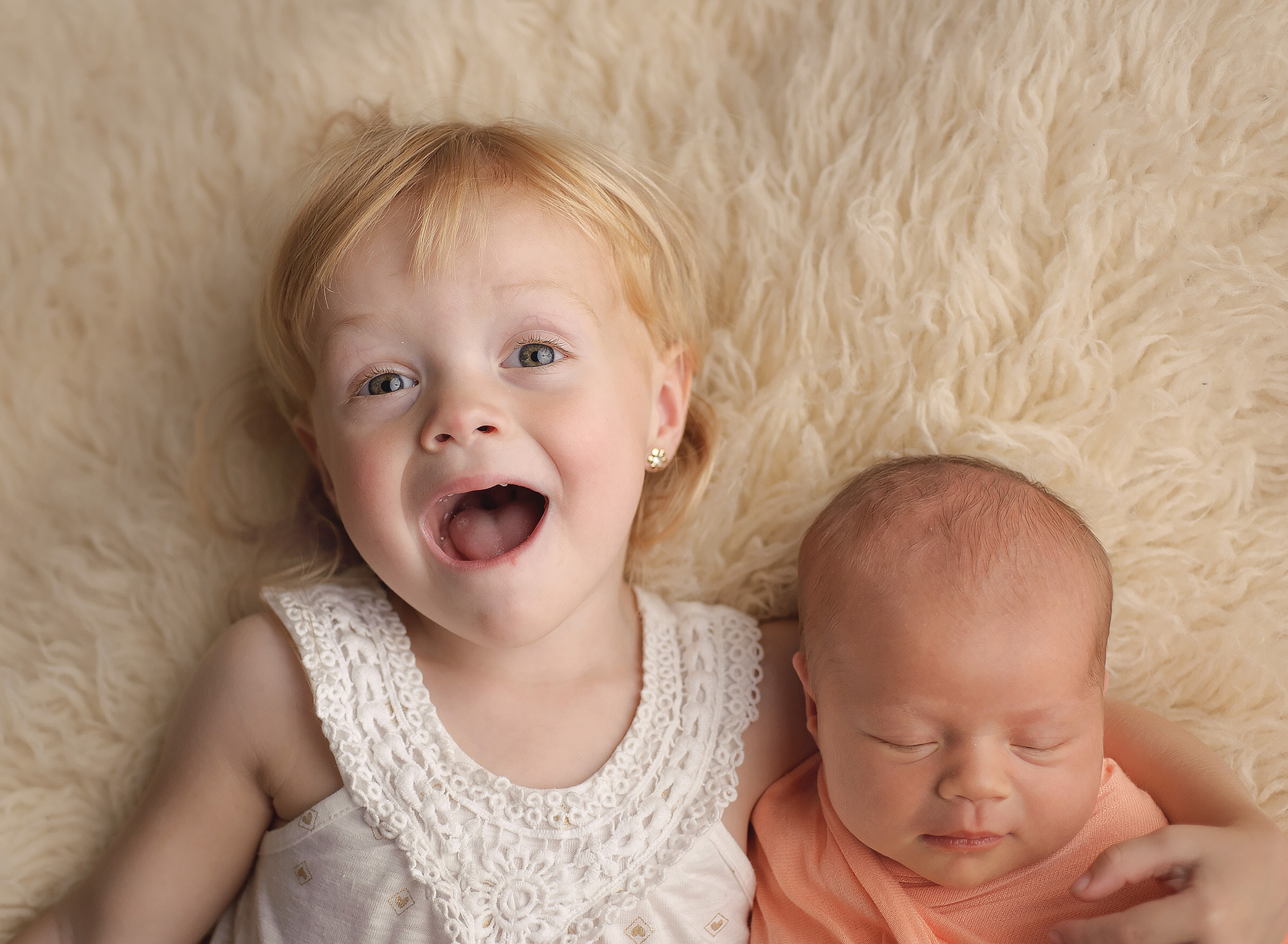 baby and toddler sisters