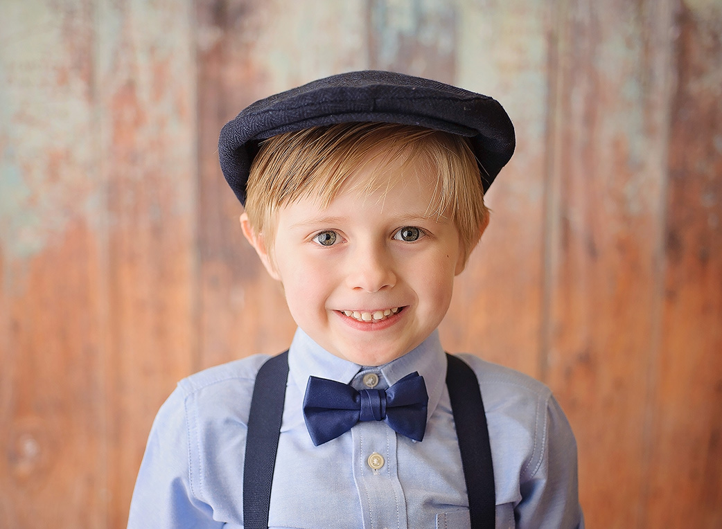 boy with hat on